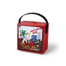 LEGO® Box na svačinu LEGO® Ninjago s rukojetí červený
