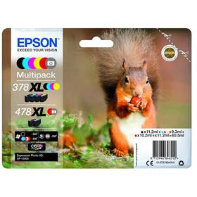 Epson 478 XL Multipack, 500/4x830 stran, CMYK (C13T379D4010)