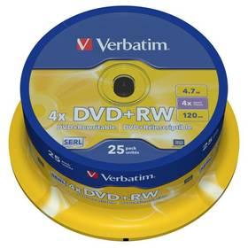 Verbatim DVD+RW 4.7GB, 4x, 25-cake (43489)