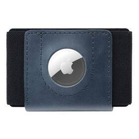 FIXED Tiny Wallet pro AirTag z pravé hovězí kůže (FIXWAT-STN2-BL) modrá