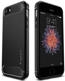 Kryt na mobil Spigen Rugged Armor pro Apple iPhone 5/5s/SE (041CS20167) čierny