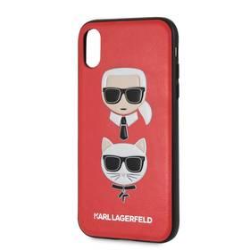 Karl Lagerfeld Karl and Choupette pro Apple iPhone XR (KLHCI61KICKCRE)  červený 71be694611d