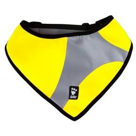Šátek reflexní Hurtta Dazzle S/M - žlutý