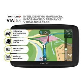 Tomtom VIA 53 Europe LIFETIME mapy (1AL5.002.00) čierna