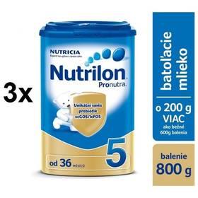 Nutrilon 5 Pronutra, 800g x 3ks + DARČEK