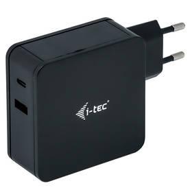 i-tec 60W, USB-C, 1,8m, + USB-A 12W (CHARGER-C60WPLUS) černý
