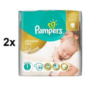 Pampers 2x Premium Care Newborn vel. 1, 78 ks + Doprava zdarma