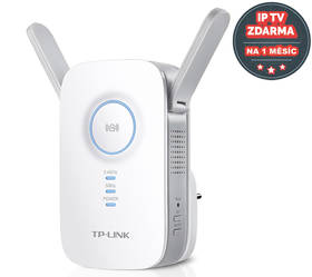 TP-Link RE350 AC1200 Dual Band + IP TV na 1 měsíc ZDARMA (RE350) bílý