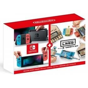 Nintendo Switch s Joy-Con v2 + Nintendo Labo Variety kit (NSH072) červená/modrá (poškozený obal 3540201075)