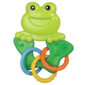 Canpol babies zvířátko s kroužky žabka modré/zelené/oranžové