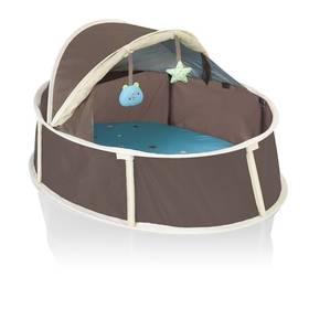 Postieľka cestovná Babymoov Babyni 2v1 Small Taupe/Blue modrá/hnedá/béžová