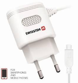 Swissten Micro USB 2,4A biela