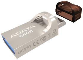 ADATA UC370 64GB, USB 3.1 + USB-C, OTG (AUC370-64G-RGD) zlatý