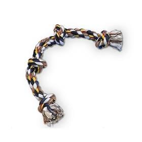 Nobby Bavlnené lano 4x uzol 260 g čierna/biela/žltá