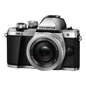 Olympus E-M10 II + objektiv 14-42mm II stříbrný