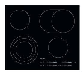 Sklokeramická varná deska AEG Mastery HK654070IB černá/sklo (Náhradní obal / Silně deformovaný obal 8800295880)