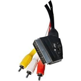 EMOS SCART / 3x Cinch, 1,5m černý