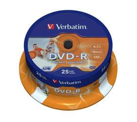 Verbatim Printable DVD-R 4.7GB, 16x, 25-cake (43538)