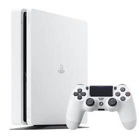 Sony PlayStation 4 SLIM 500GB (PS719816164) bílá Přepěťová ochrana Whitenergy 6 zásuvek 1.8m - černá (zdarma) + Doprava zdarma