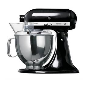 KitchenAid Artisan 5KSM150PSEOB černý Příslušenství k robotu KitchenAid KB3SS nerezová mísa (3l) (zdarma)Příslušenství k robotu KitchenAid 5KFE5T plochý šlehač se stěrkou (zdarma) + Doprava zdarma