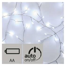 EMOS 100 LED, nano řetěz – ježek, 2,4m, studená bílá, časovač (1534204500)