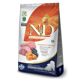 N&D Grain Free Pumpkin DOG Puppy M/L Lamb & Blueberry 12kg + Doprava zdarma