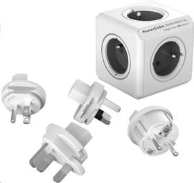 Powercube Rewirable + Travel Plugs - šedý (456307) šedý