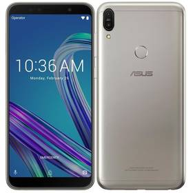 Asus Zenfone MAX Pro (ZB602KL-4H084EU) stříbrný SIM s kreditem T-Mobile 200Kč Twist Online Internet (zdarma)