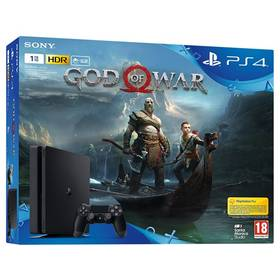 Sony PlayStation 4 SLIM 1TB + God of War (PS719384878) čierna