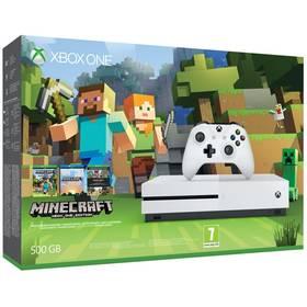 Microsoft Xbox One S 500 GB + sada Minecraft (ZQ9-00047) bílá + Hra Microsoft Xbox One Gears of War 4 v hodnotě 899 Kč + Doprava zdarma