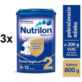 Nutrilon 2 Pronutra Good Night, 800g x 3ks + DARČEK