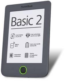Pocket Book 614 Basic 2 (PB614-Y-WW) šedá + Doprava zdarma