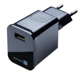 Nabíjačka do siete Connect IT 1x USB, 2.1 A (CI-254) čierna