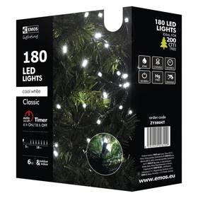 EMOS 180 LED, 18m, řetěz, studená bílá, časovač, i venkovní použití (1534080045) + Doprava zdarma