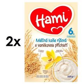 Hami rýžová s vanilkovou příchutí 6M, 225g x 2ks