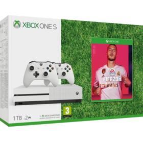 Microsoft Xbox One S 1 TB + ovladač + FIFA 20 (234-00607)