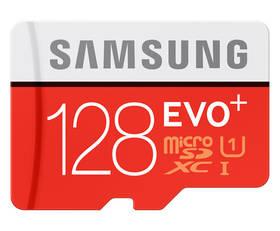 Samsung Micro SDXC EVO+ 128GB UHS-I U1 (80R/20W) + adapter (MB-MC128DA/EU) + Doprava zdarma