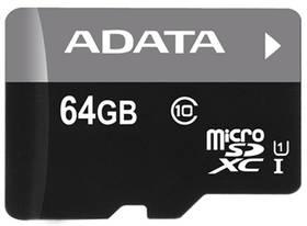 ADATA 64GB Class 10 UHS-U1 (50R/10W) + čtečka MicroReader Ver.3 (AUSDX64GUICL10-RM3BKBL) černá