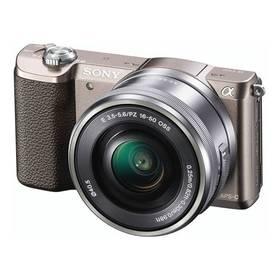 Sony Alpha A5100 + objektiv 16-50mm hnědý + Doprava zdarma