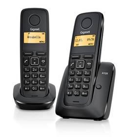 Domáci telefón Siemens Gigaset A120 duo (L36852-H2401-R601) čierny