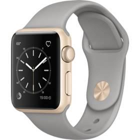 Apple Watch Series 1 38mm pouzdro ze zlatého hliníku – cementově šedý sportovní řemínek (MNNJ2CN/A) + Doprava zdarma