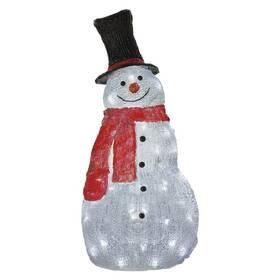 EMOS 60 LED vánoční sněhulák, 61 cm, venkovní i vnitřní, studená bílá, časovač (DCFC02)