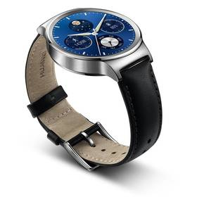 Huawei Watch W1 Stainless Steel + Black Leather (WA-WATCHW1SOM) + Doprava zdarma