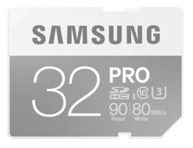 Samsung SDHC PRO 32GB UHS-I U3 (90R/80W) (MB-SG32E/EU)