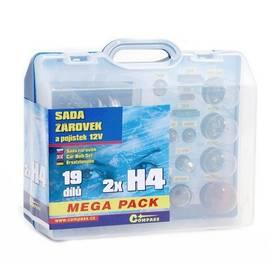Autožárovky Compass 12 V servisní box MEGA H4+H4+pojistky