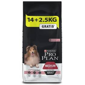Purina Pro Plan MEDIUM ADULT Sensitive Skin Losos 14 kg + 2,5 kg + Doprava zdarma