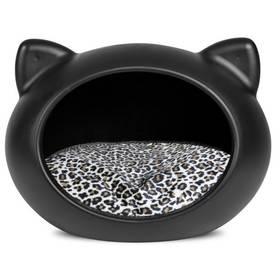 Guisapet pro kočku plastový černý / polštář zvířecí vzor - S + Doprava zdarma