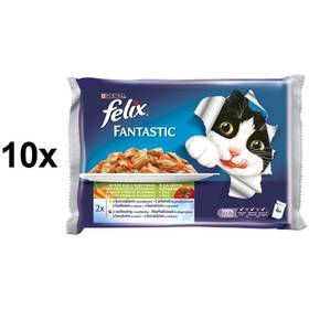 Felix Fantastic masový výběr se zeleninou 10 x (4 x 100g)