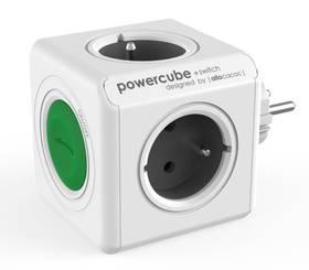 Powercube Original Switch, 4x zásuvka (8719186004161) sivý/biely/zelený