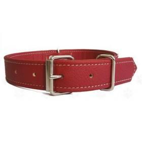 Argi pro psa z eko kůže červený 3,5 x 67 cm